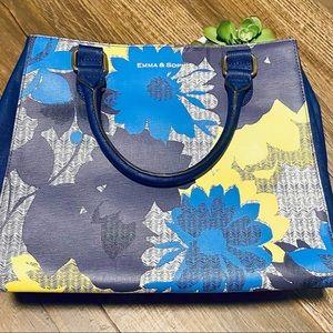 Emma & Sophia Multi-color Floral Satchel Bag